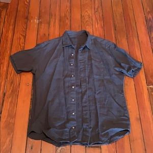 Beautiful charcoal linen men's shirt